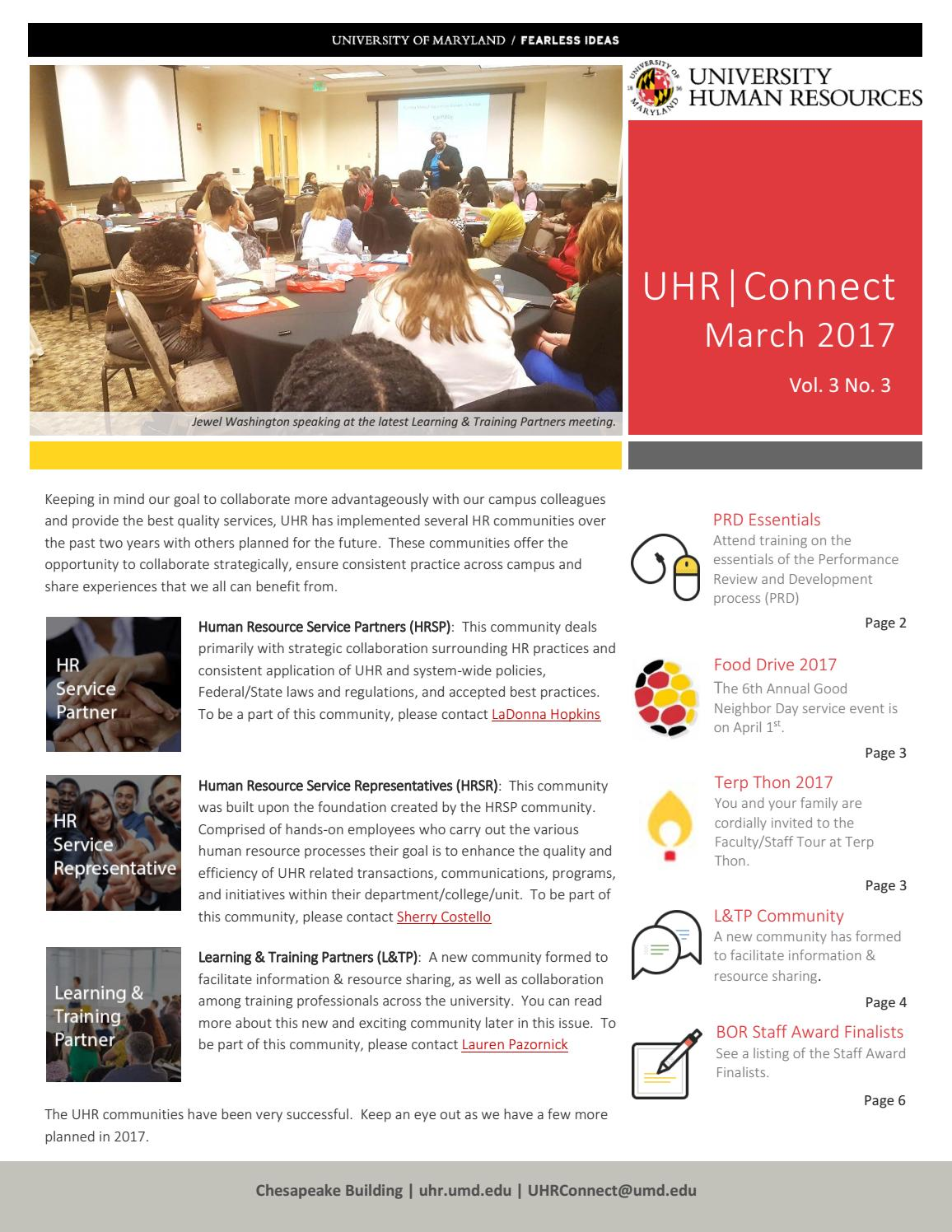 UHR|Connect March 2017 by University Human Resources - issuu