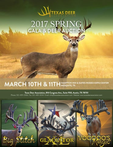 Join us for our 2017 Spring Gala & Deer Auction! by Texas