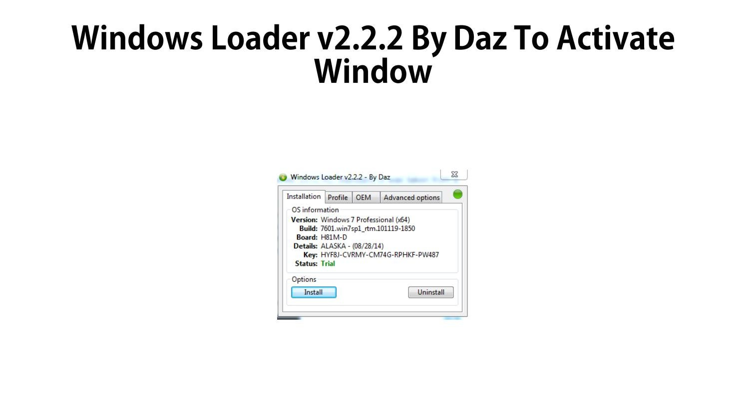 Windows Loader V2 2 2 By Daz By Howtoinstallwindows10 Issuu