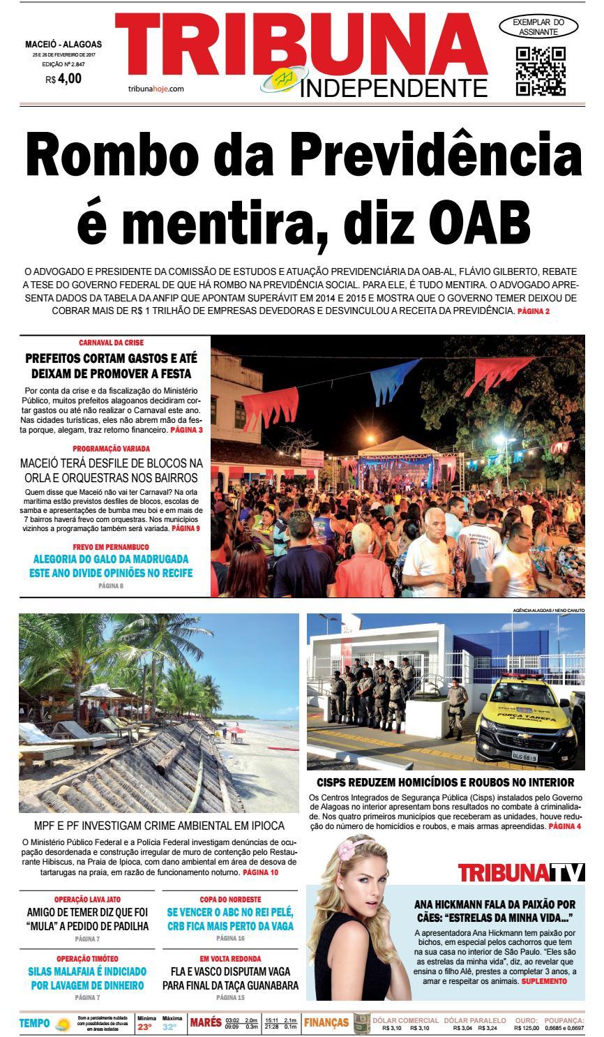 01d9673ff635e Edição número 2847 - 25 e 26 de fevereiro de 2017 by Tribuna Hoje - issuu