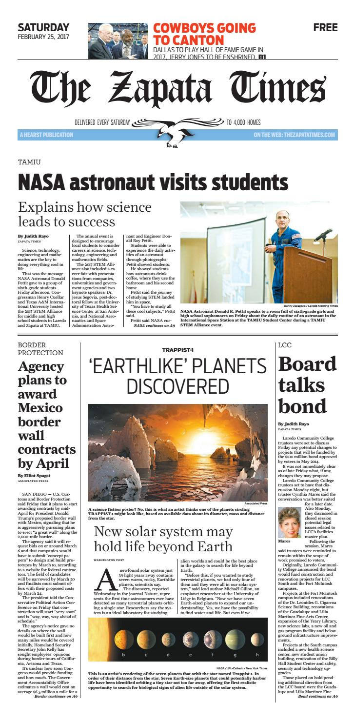 The Zapata Times 2/25/2017 by The Zapata Times - issuu