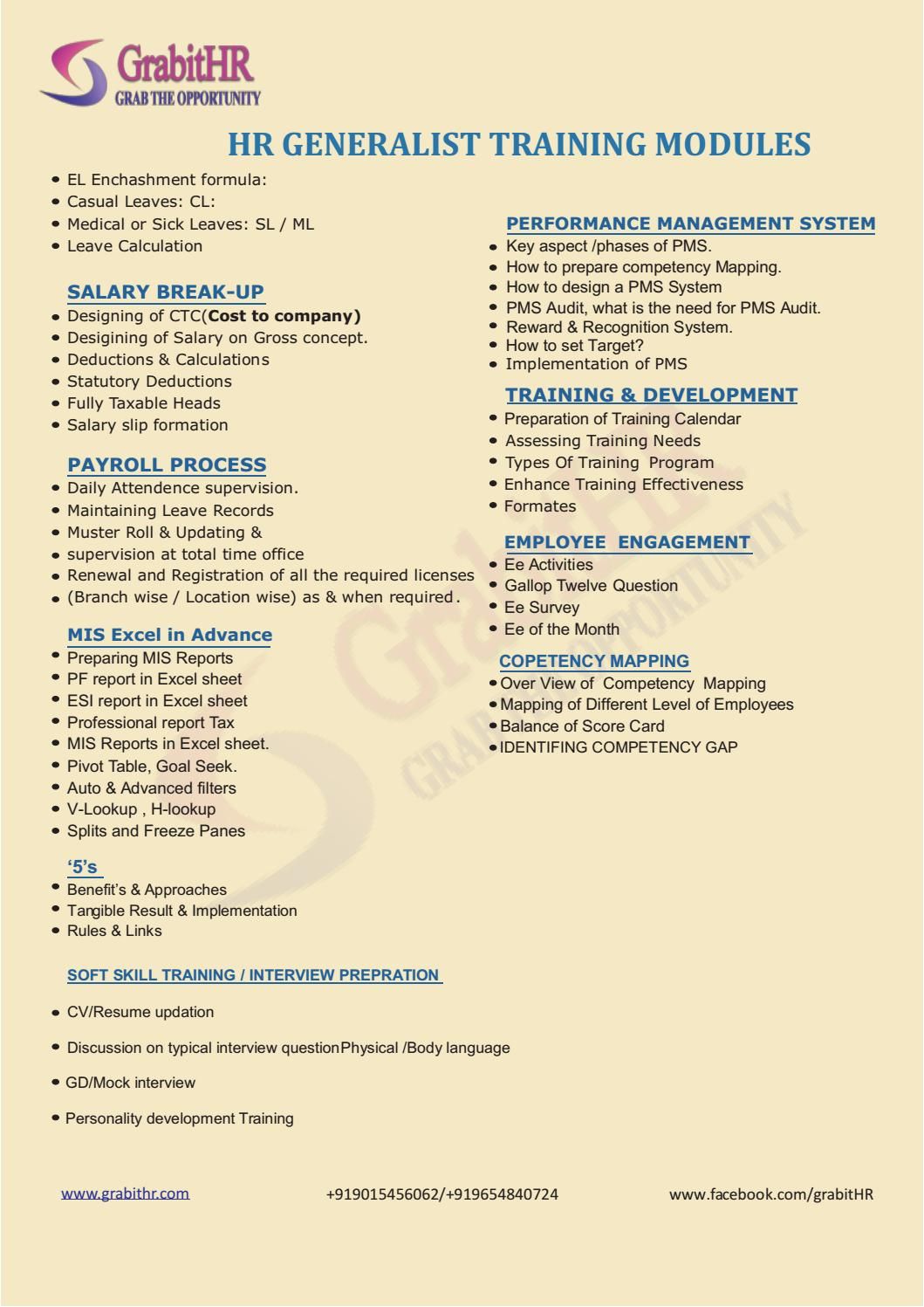 HR Generalist Practical Training with 100% placement by