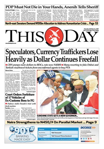 ef4afed7b Saturday 25th February 2017 by THISDAY Newspapers Ltd - issuu