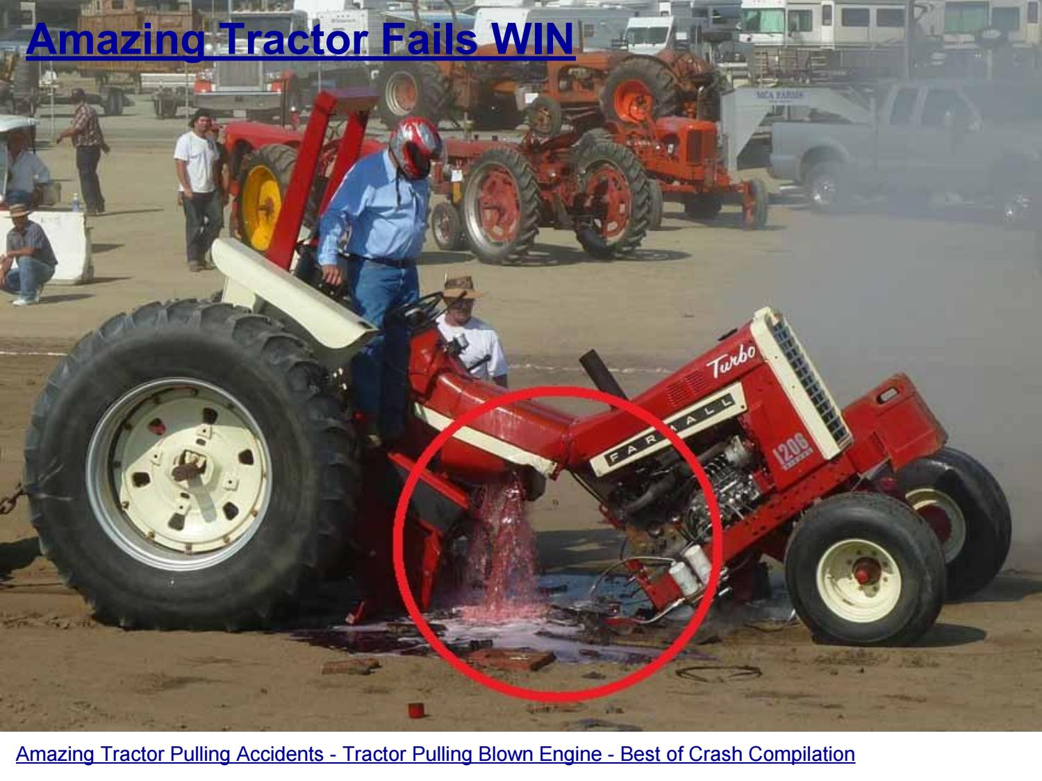 Garden Tractor Pulling Crashes : Amazing tractor pulling accidents blown