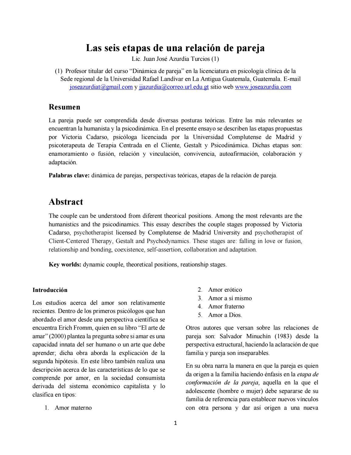 Las 6 etapas de una relación de pareja by JÓse Azurdia - issuu