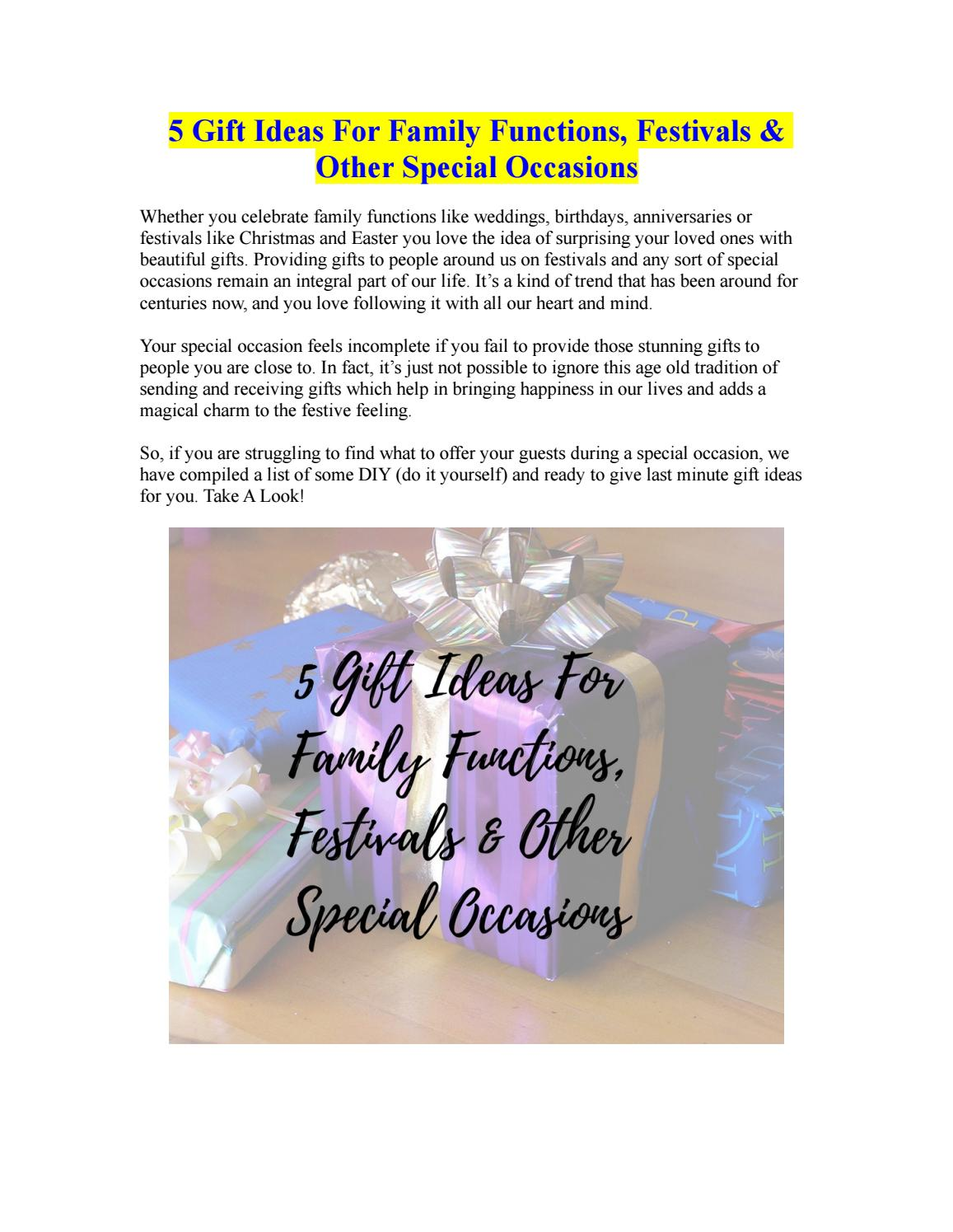 5 gift ideas for family functions festivals other special 5 gift ideas for family functions festivals other special occasions by elizabethsmith issuu negle Image collections