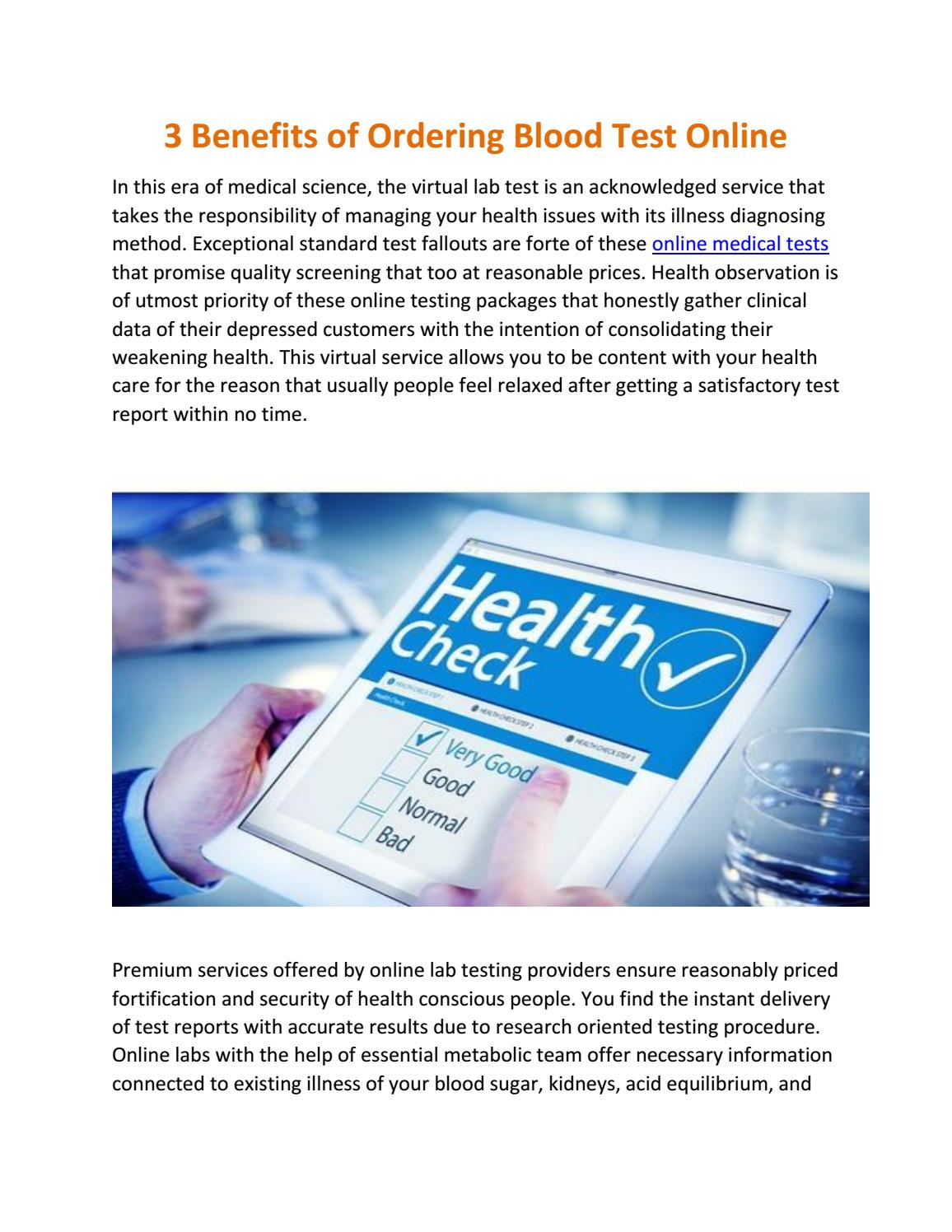 Order blood test online with healthycheckup by Rafael
