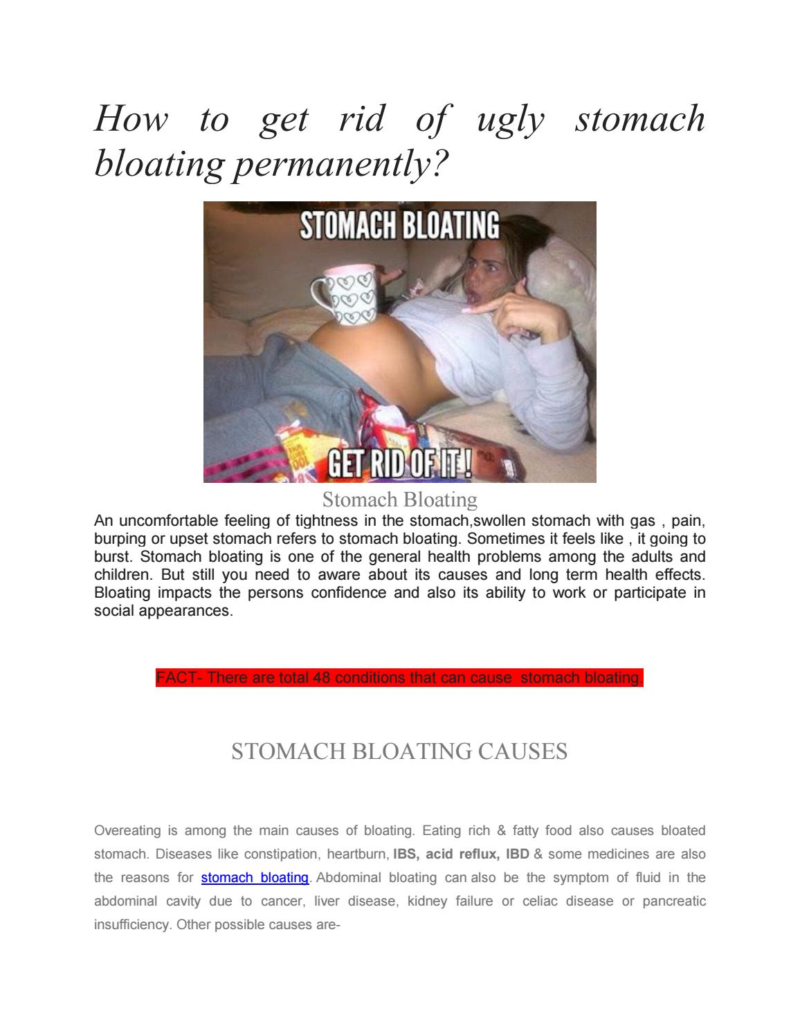 How To Get Rid Of Ugly Stomach Bloating Permanently By Sarah22 Issuu