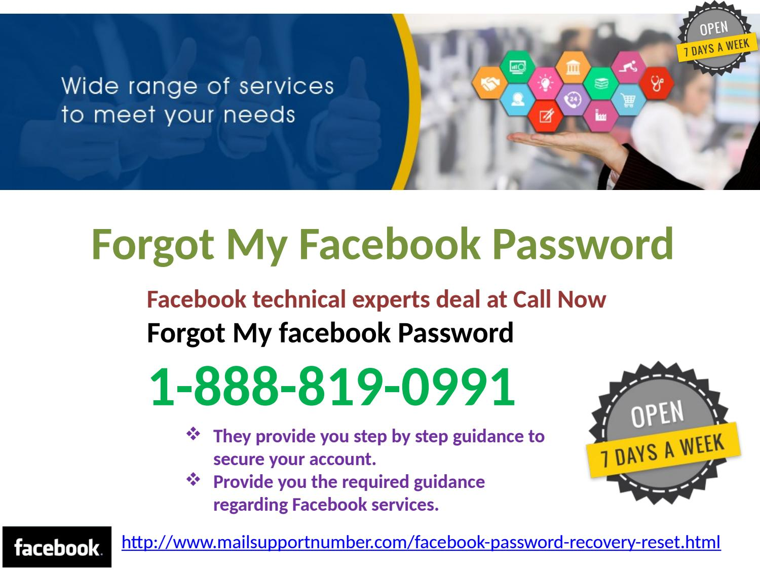 Forgot my Facebook Password 1-888-819-0991 Is Your Best