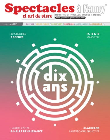 Spectacles Publications Nancy n°336   Mars 2017 by SPECTACLES ... d5857350d51
