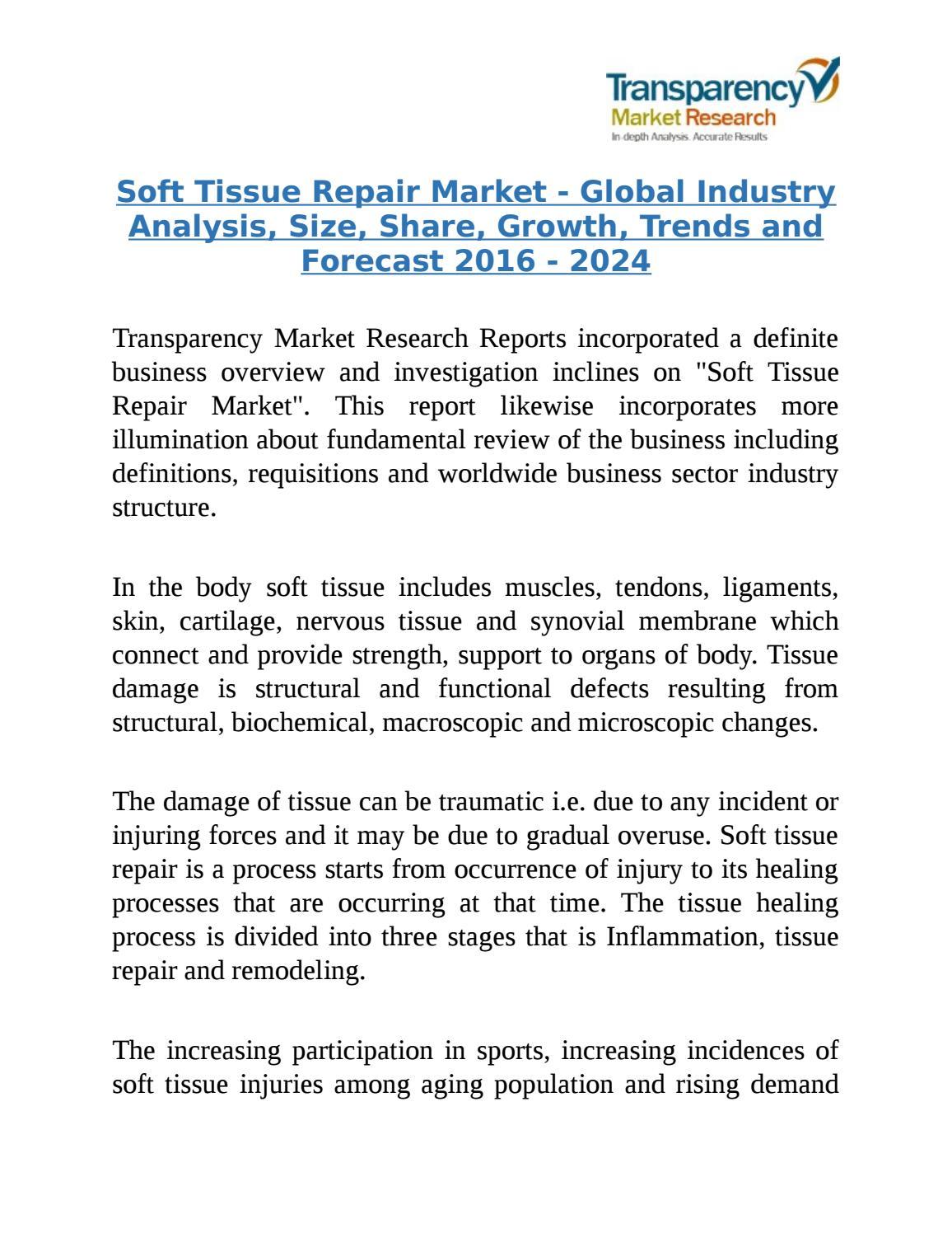 Soft Tissue Repair Market Global Industry Analysis 2024 By Markettrends Issuu