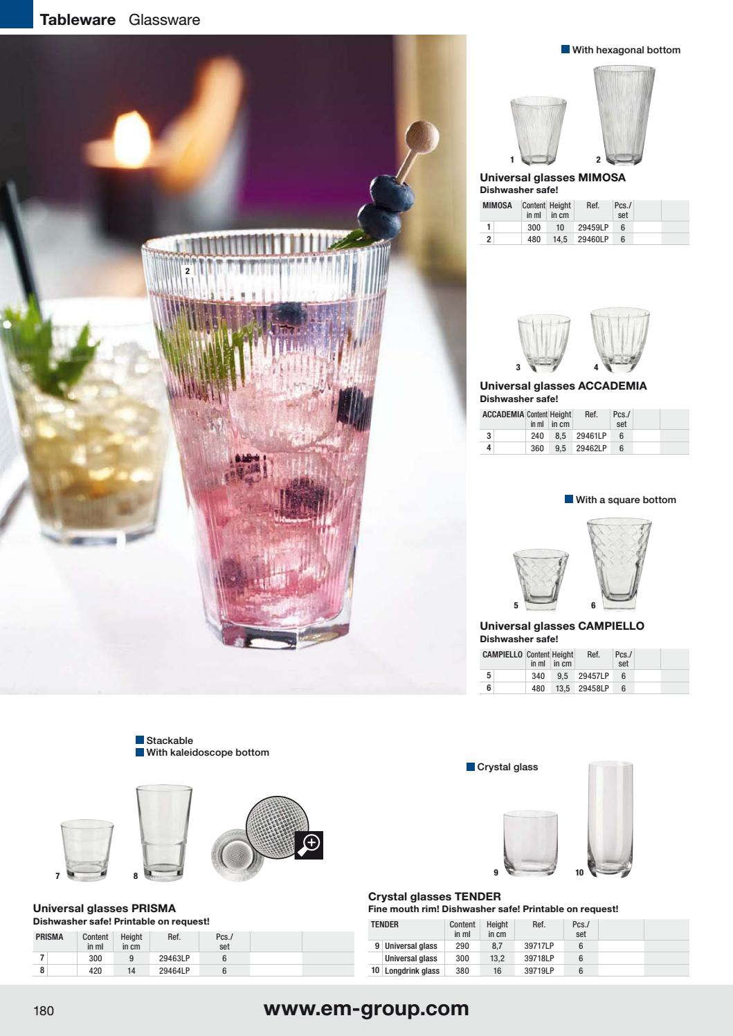graphic regarding Printable Glassware referred to as Katalog VEGA 2017 - wyposażenie dla gastronomii, hoteli oraz