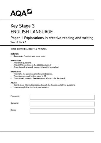 english papers ks3 year 8 2009 ks3 english sats papers 2009 ks3 english reading and writing papers thedoctor1607 (1) free popular paid resources tes picks new year resolution.
