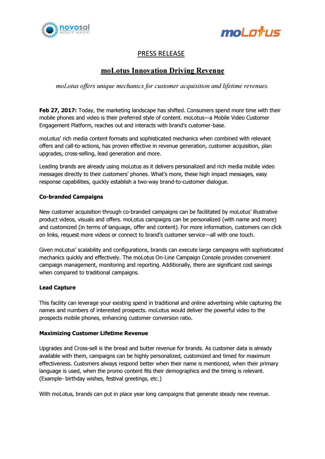 Molotus offers unique mechanics for customer acquisition and molotus offers unique mechanics for customer acquisition and lifetime revenues by molotus issuu kristyandbryce Images