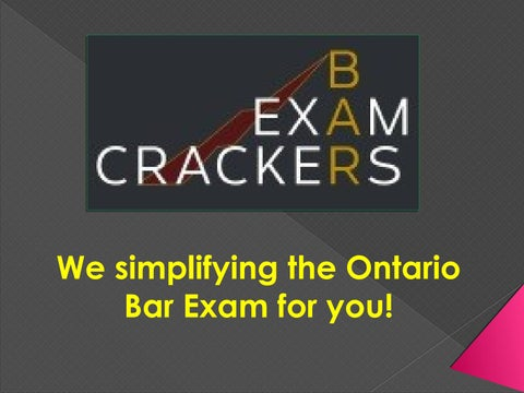Ontario Bar Exam Questions by aaronsailor17 - issuu