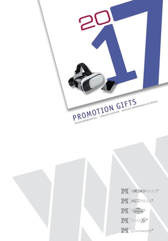 Metmaxx Promotion Gifts 2017 By PT Design Oy