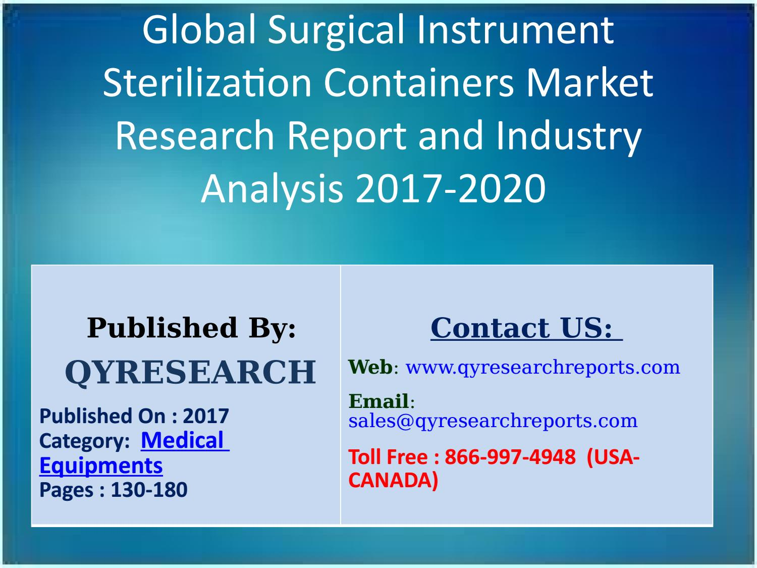 Global Surgical Instrument Sterilization Containers Market Key