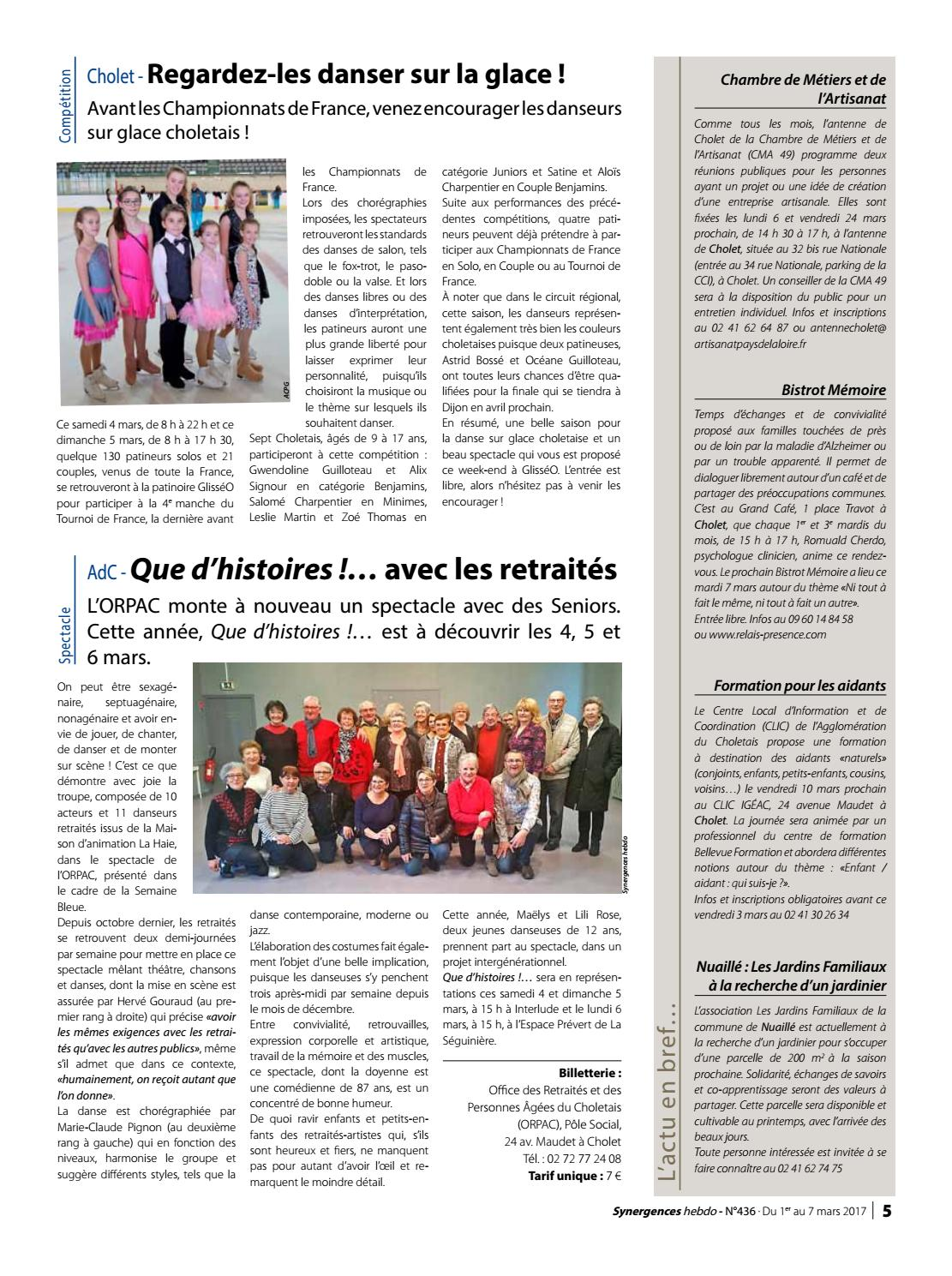 synergences hebdo n°436 by agglomération du choletais - issuu