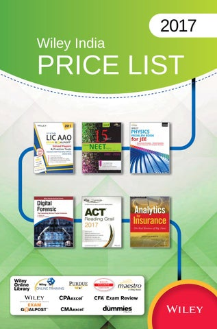 Wiley india price list 2017 by wiley india issuu page 1 fandeluxe Choice Image