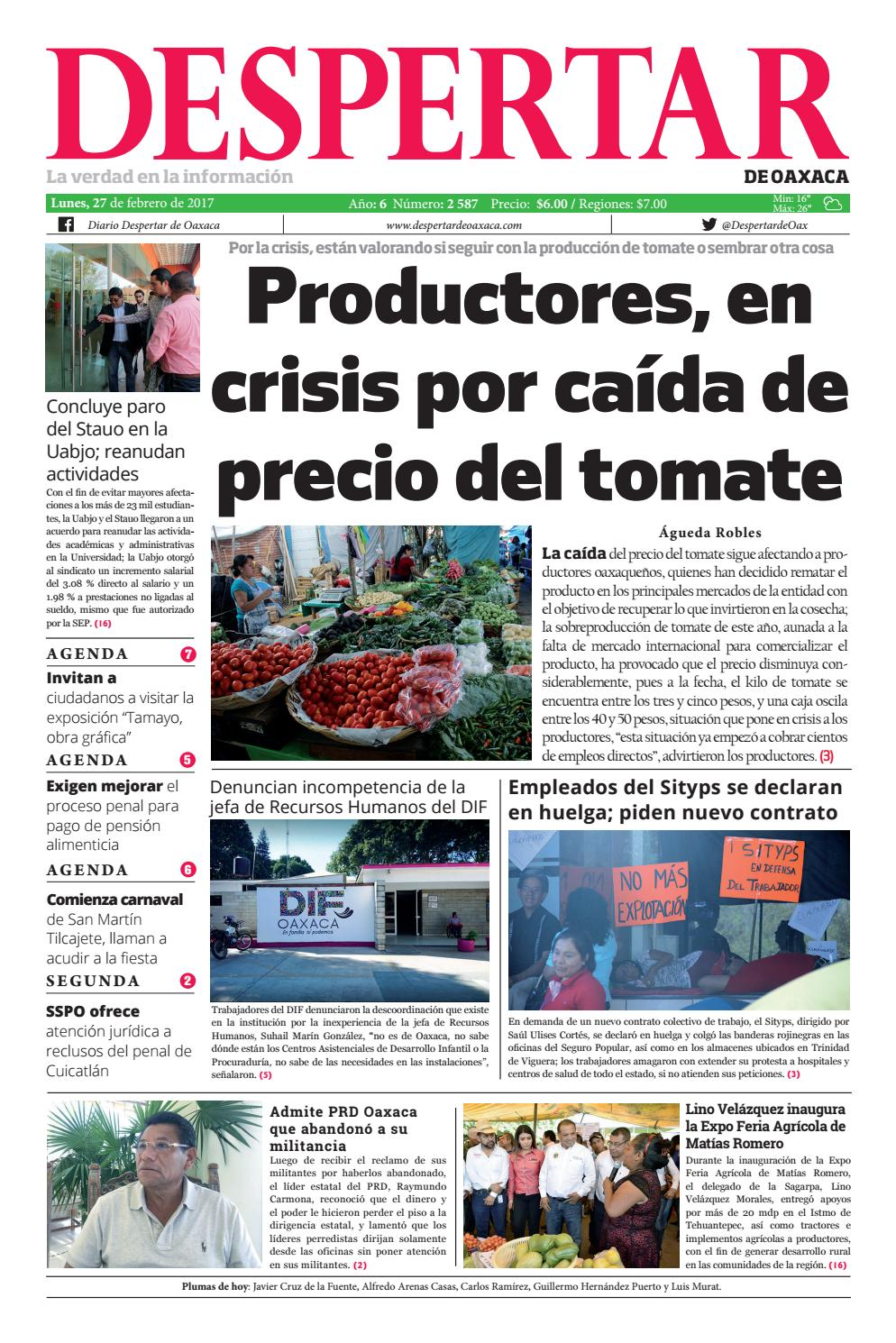 Despertar 27 de febrero 2017 by Despertar de Oaxaca - issuu