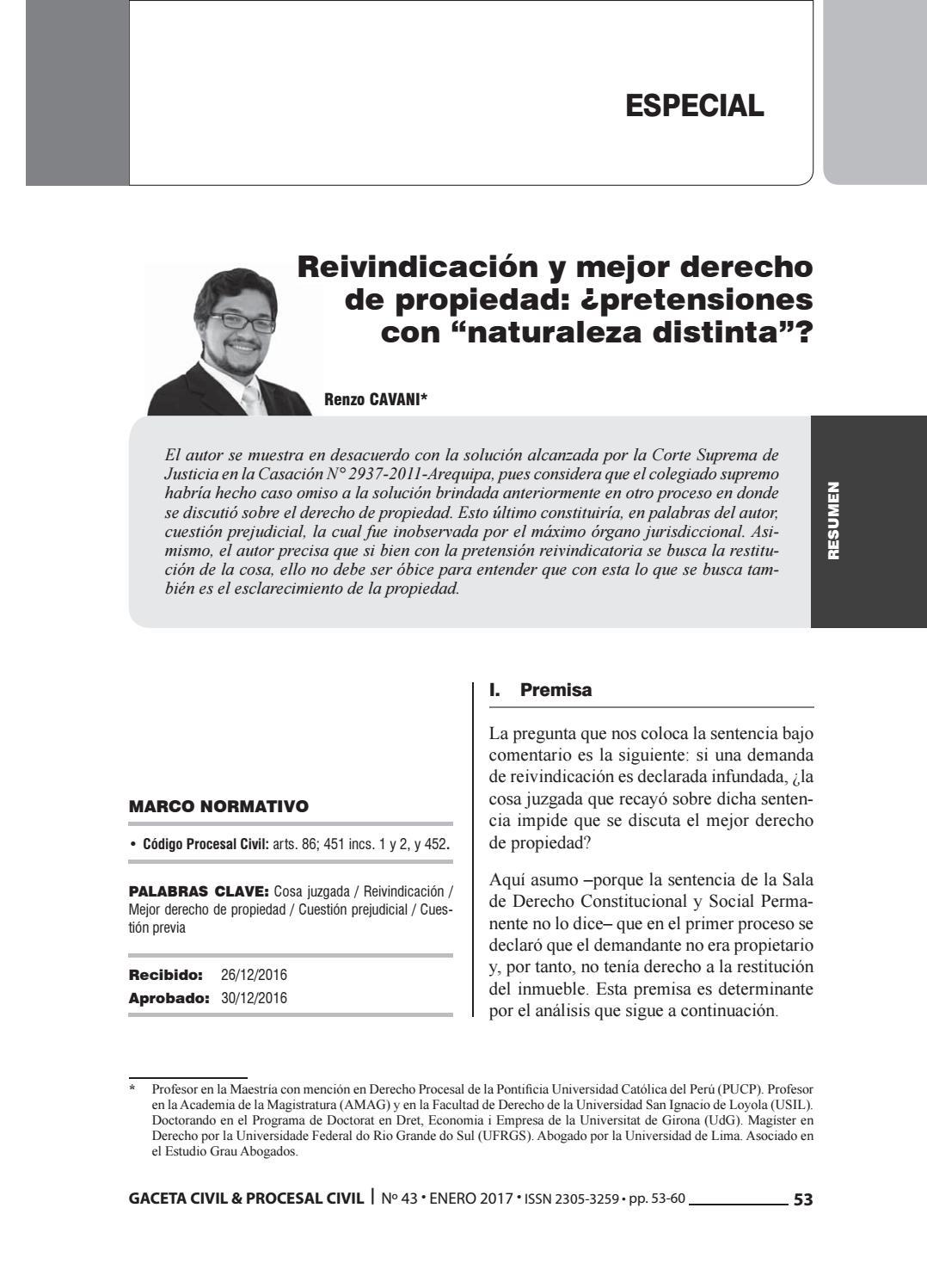 Reivindicacion y mejor derecho de propiedad by DRET - issuu