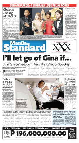 Manila Standard - 2017 February 28 - Tuesday by Manila Standard - issuu 2c82c00d1e5c