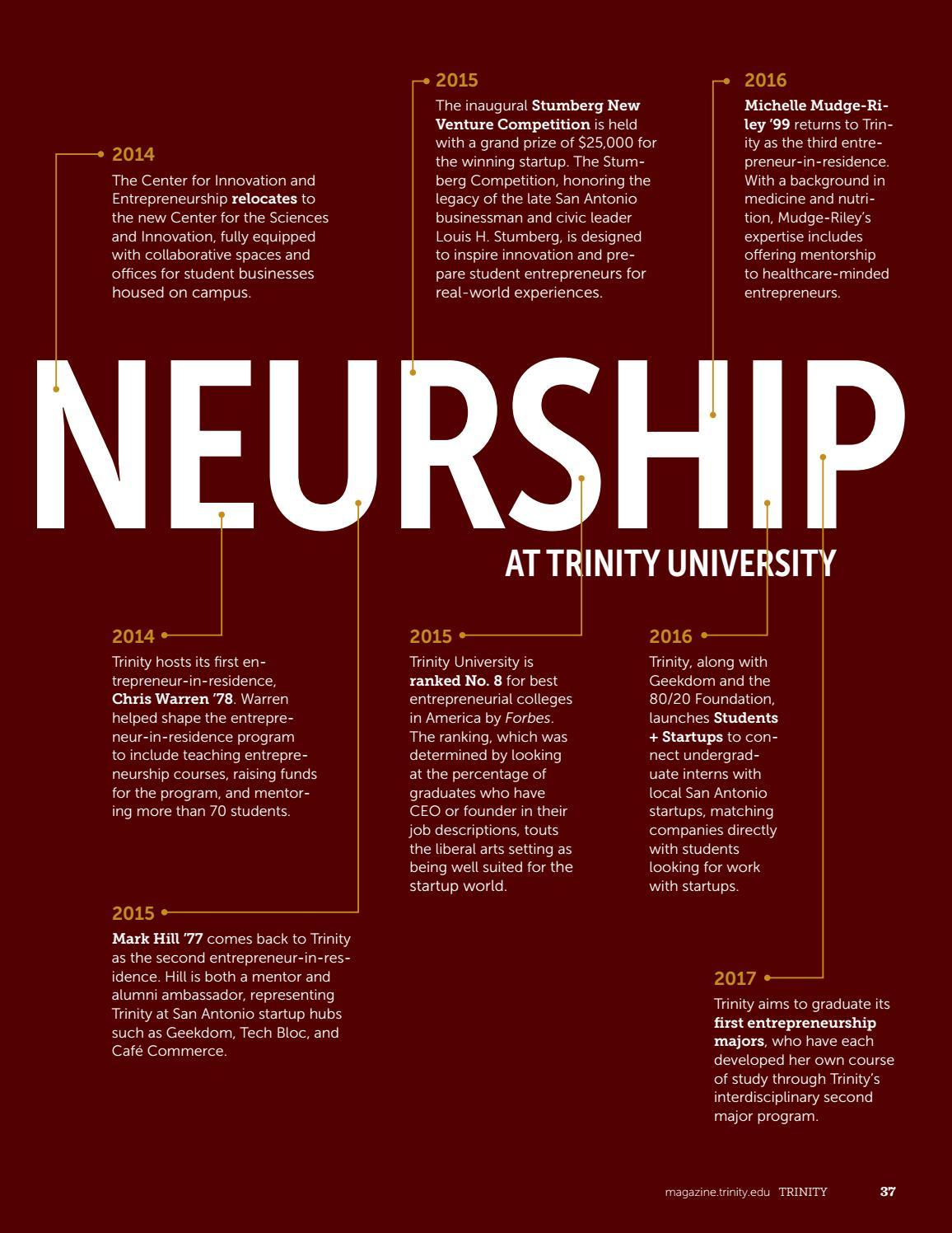Trinity Magazine | Winter 2017 by Trinity University - issuu