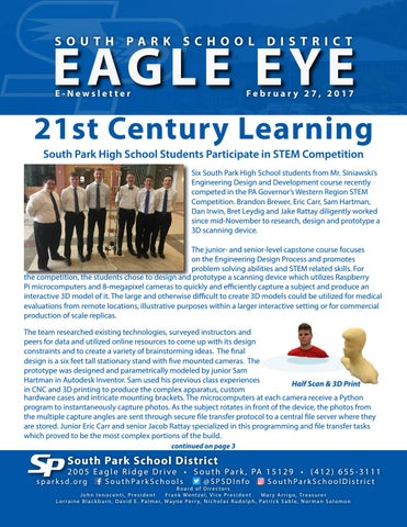 Eagle Eye E-Newsletter- 2-27-17 by South Park School District - issuu