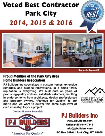 Voted Best Contractor Park City 2014 2015 2016