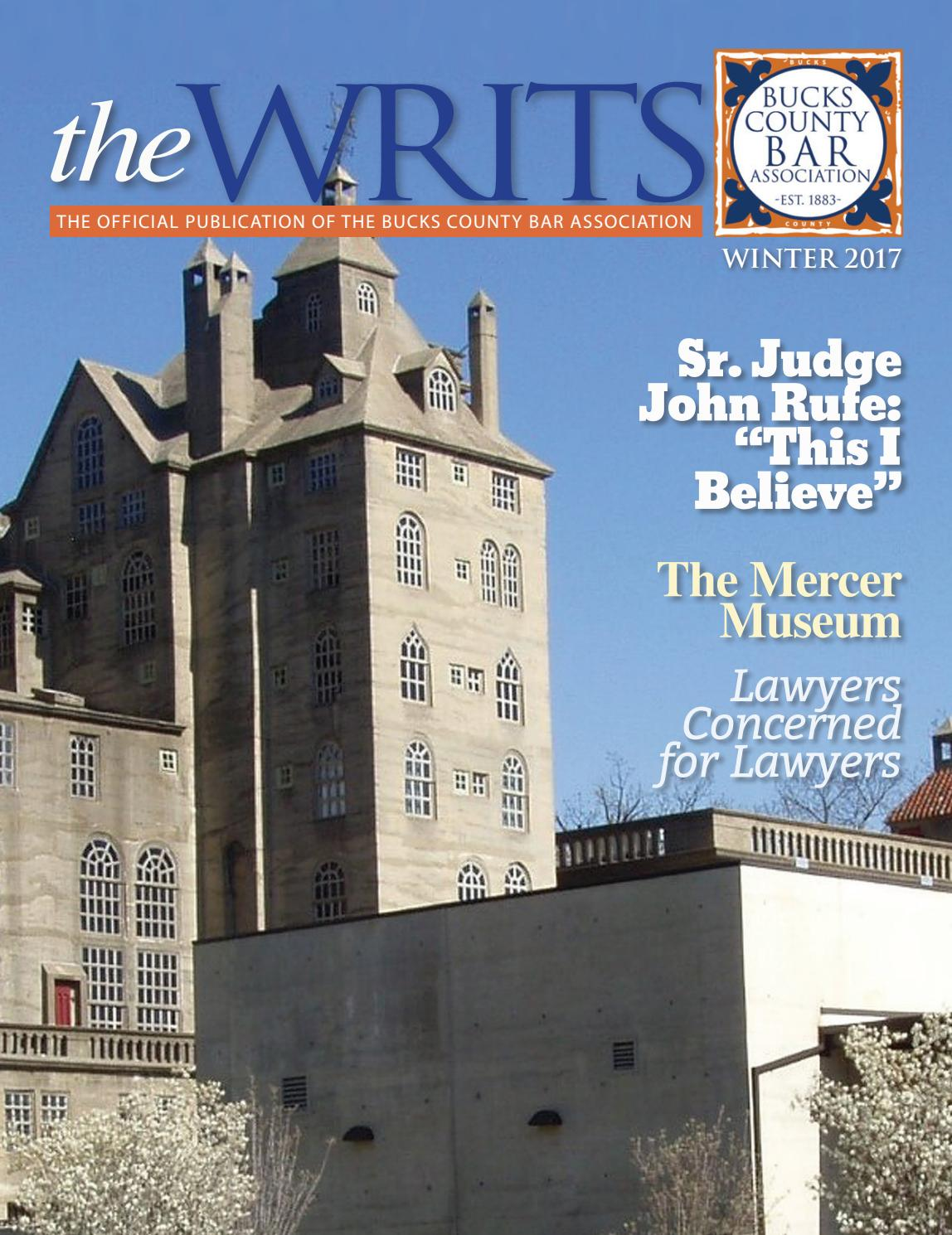 The WRITS, Winter 2017 by Hoffmann Publishing Group - issuu