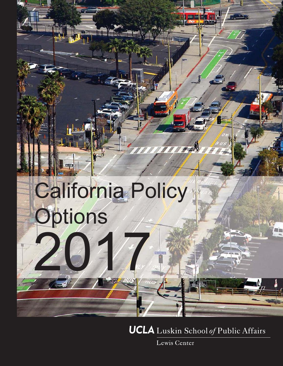 California policy options 2017 by UCLA Luskin School of