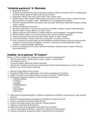 Ardiente Paciencia El Cartero By Patricia Mendoza Issuu