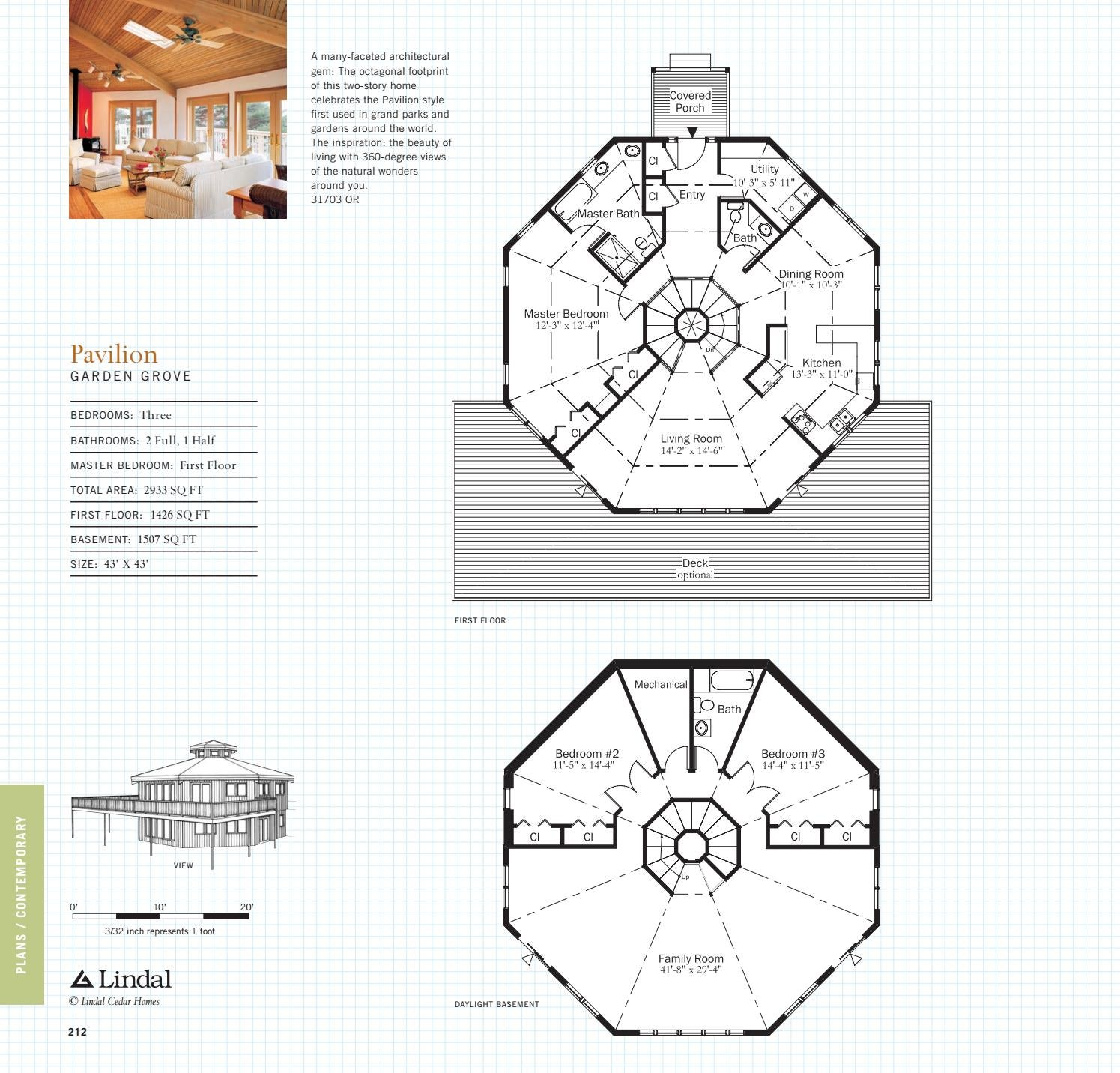 House Plan For 16 Feet By 54 Feet Plot Plot Size 96: Living Dreams: Lindal Cedar Homes Plan Book By Lindal