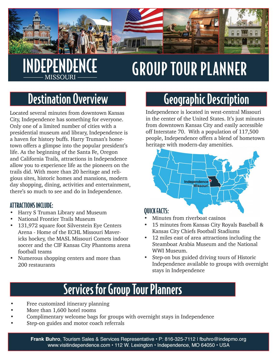 2017 Group Tour Guide by Visit Independence - issuu