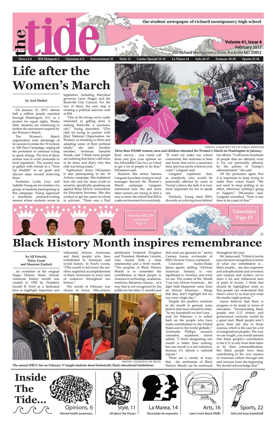 February 2017: Volume 41, Issue 4 by The Tide - issuu