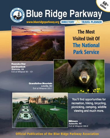 Blue Ridge Parkway Directory Travel Planner 68th Edition By Blue