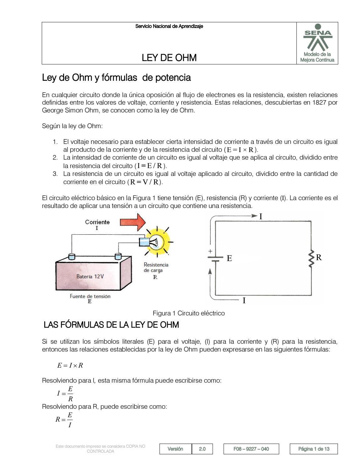 Circuito Basico Electrico : Analisiscircuitos