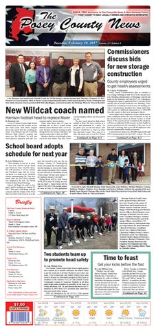 February 28 2017 The Posey County News By The Posey County News