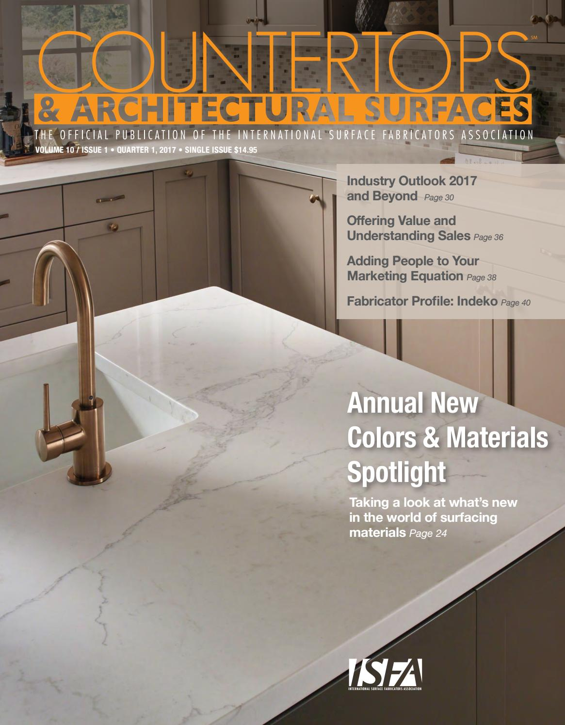 Isfa S Countertops Architectural Surfaces Vol 10 Issue 1 Q1 2017 L By Isfa Issuu