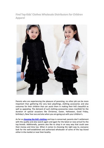 Find top kids  clothes wholesale distributors for children apparel and  other brand names a72170111f