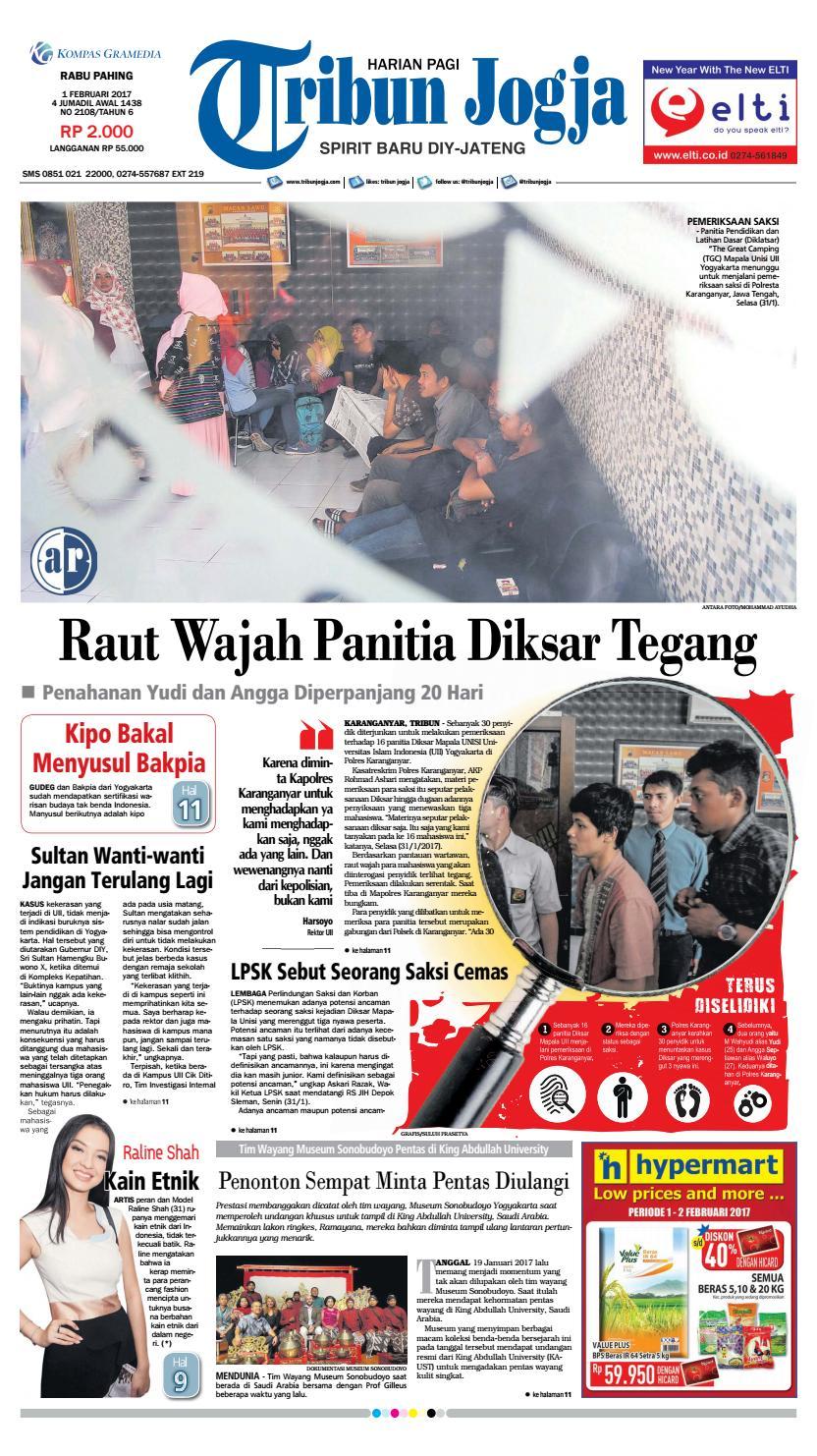 Tribunjogja 01 02 2017 By Tribun Jogja Issuu Produk Ukm Bumn Baju Muslim Anak Laki Dannis Nomor 10 Abu