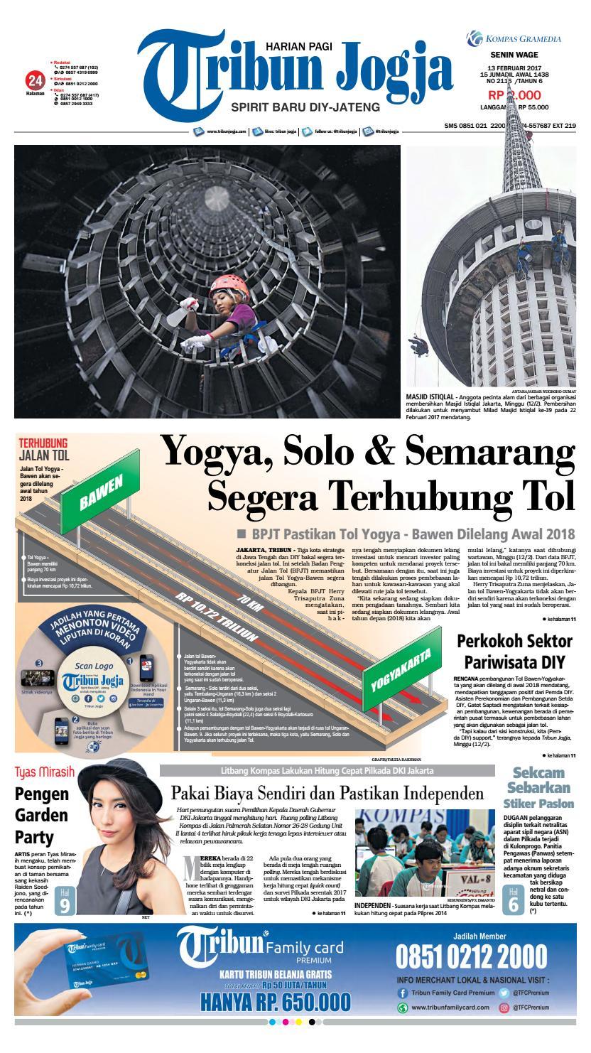 Tribunjogja 13 02 2017 By Tribun Jogja Issuu Produk Ukm Bumn Wisata Mewah Bali 3hr 2mlm