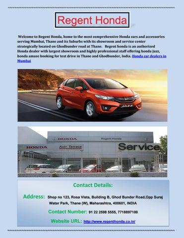Honda car on road price in mumbai honda car dealers in thane