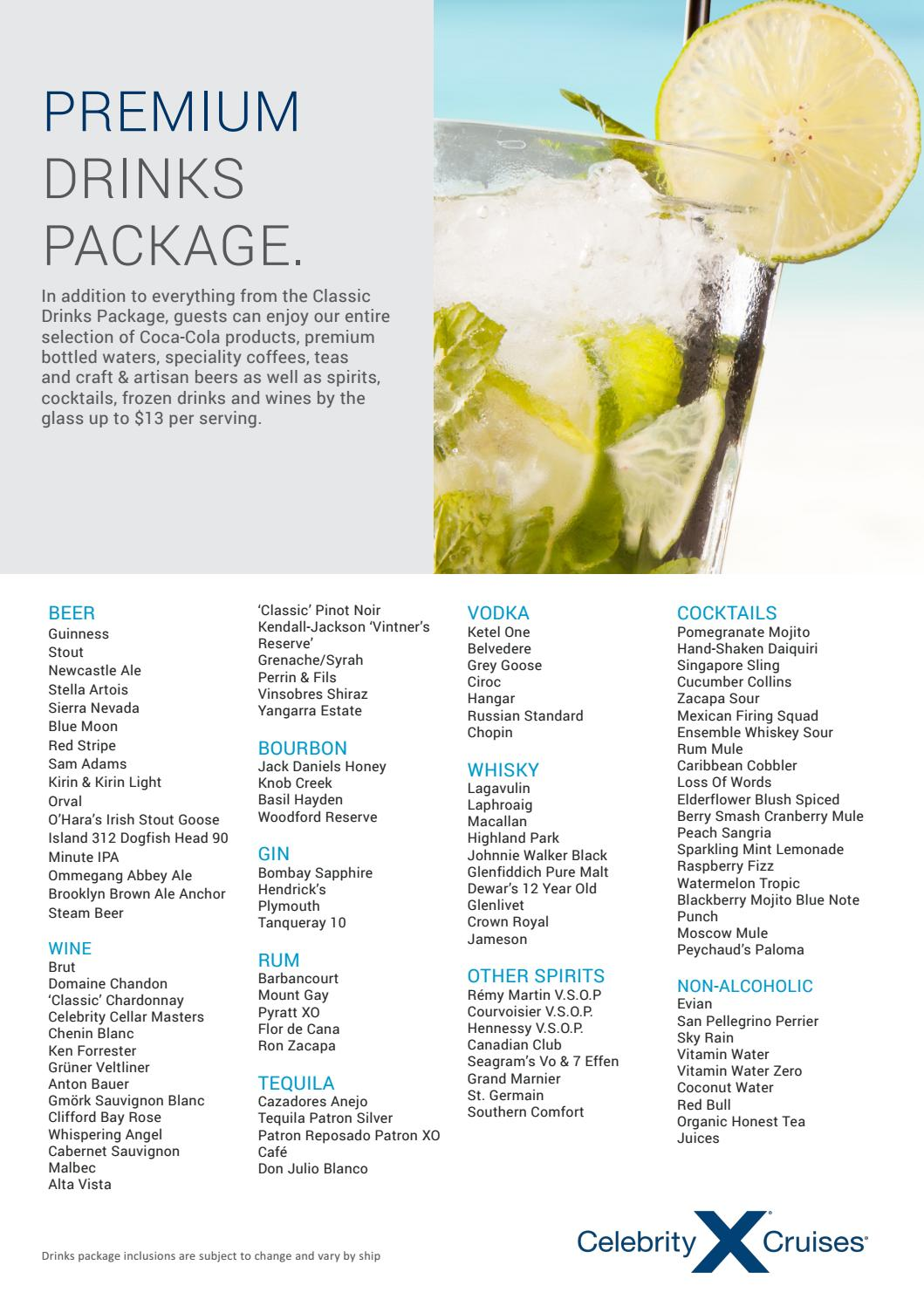 Cruise ship drink and beverage packages guide to every line