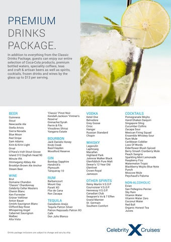 Celebrity Cruises Drink Packages: Classic ... - Cruise Critic