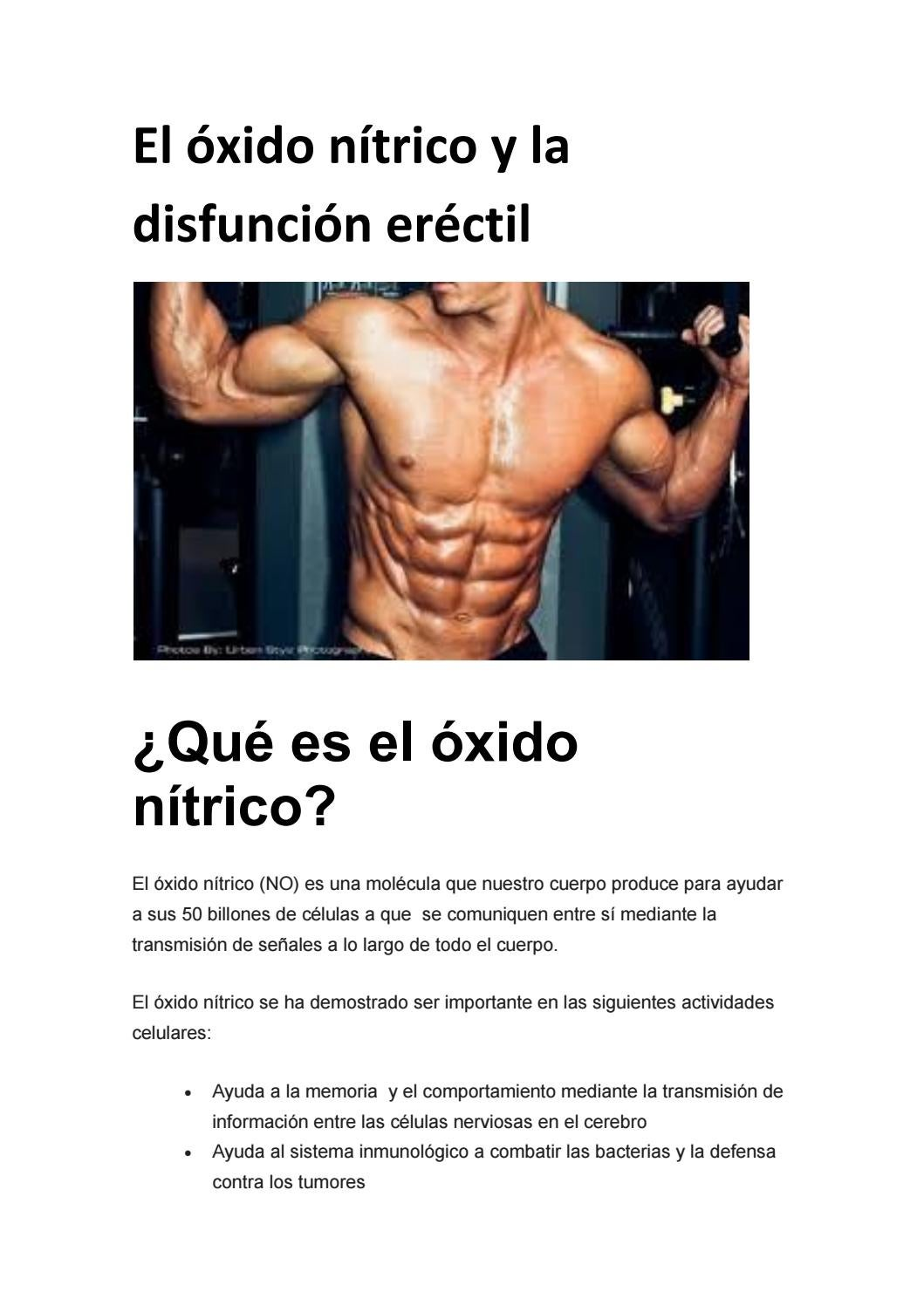 El óxido nítrico y la disfunción eréctil by Sexualidad del
