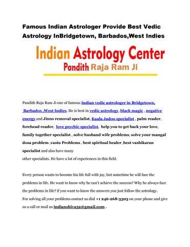 Famous Indian Astrologer Provide Best Vedic Astrology InBridgetown