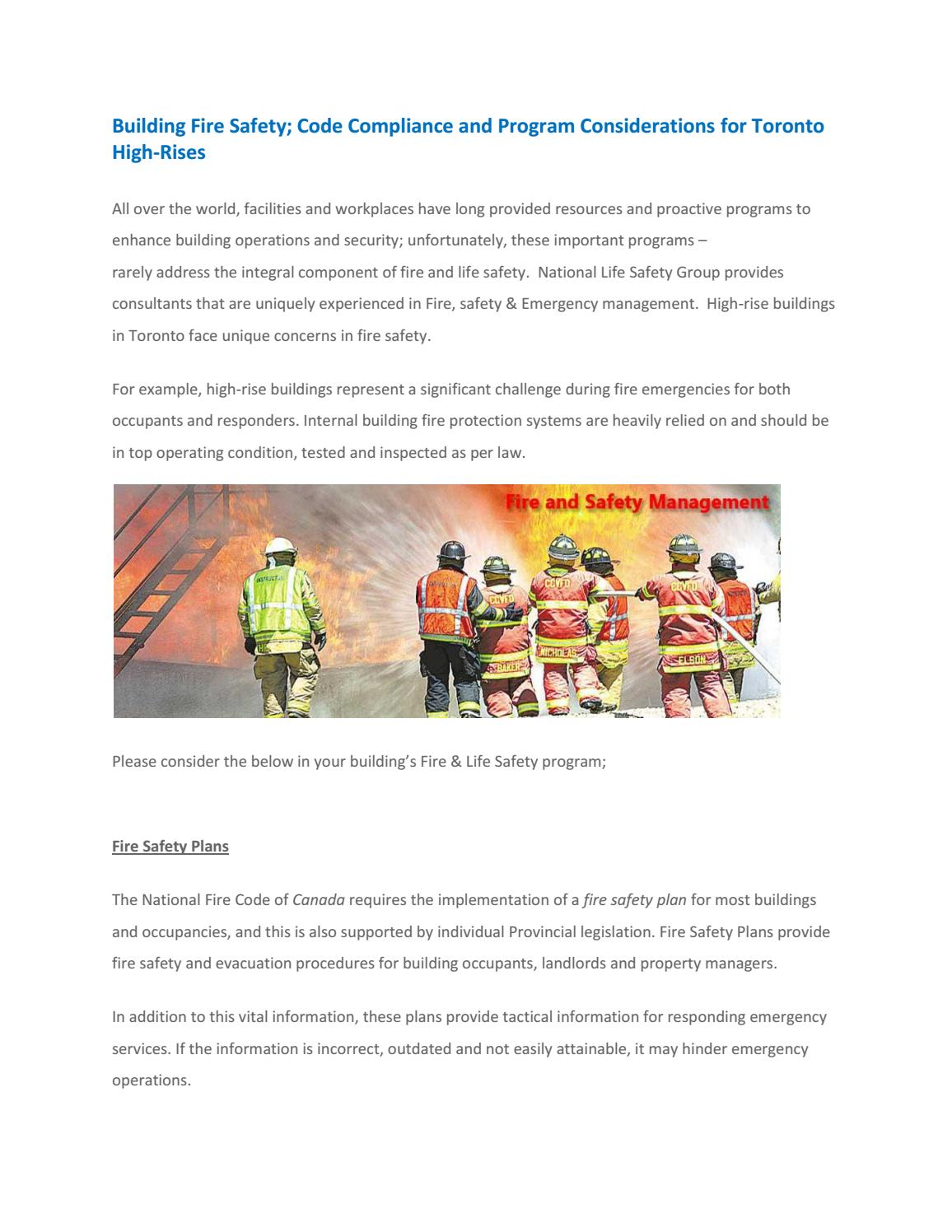 Building Fire Safety Fire Safety Services In Canada By National Life