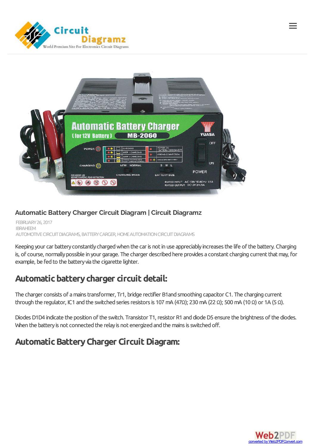 Automatic Battery Charger Circuit Diagram Diagramz By Usb Camera Amplifiercircuit Robin Issuu