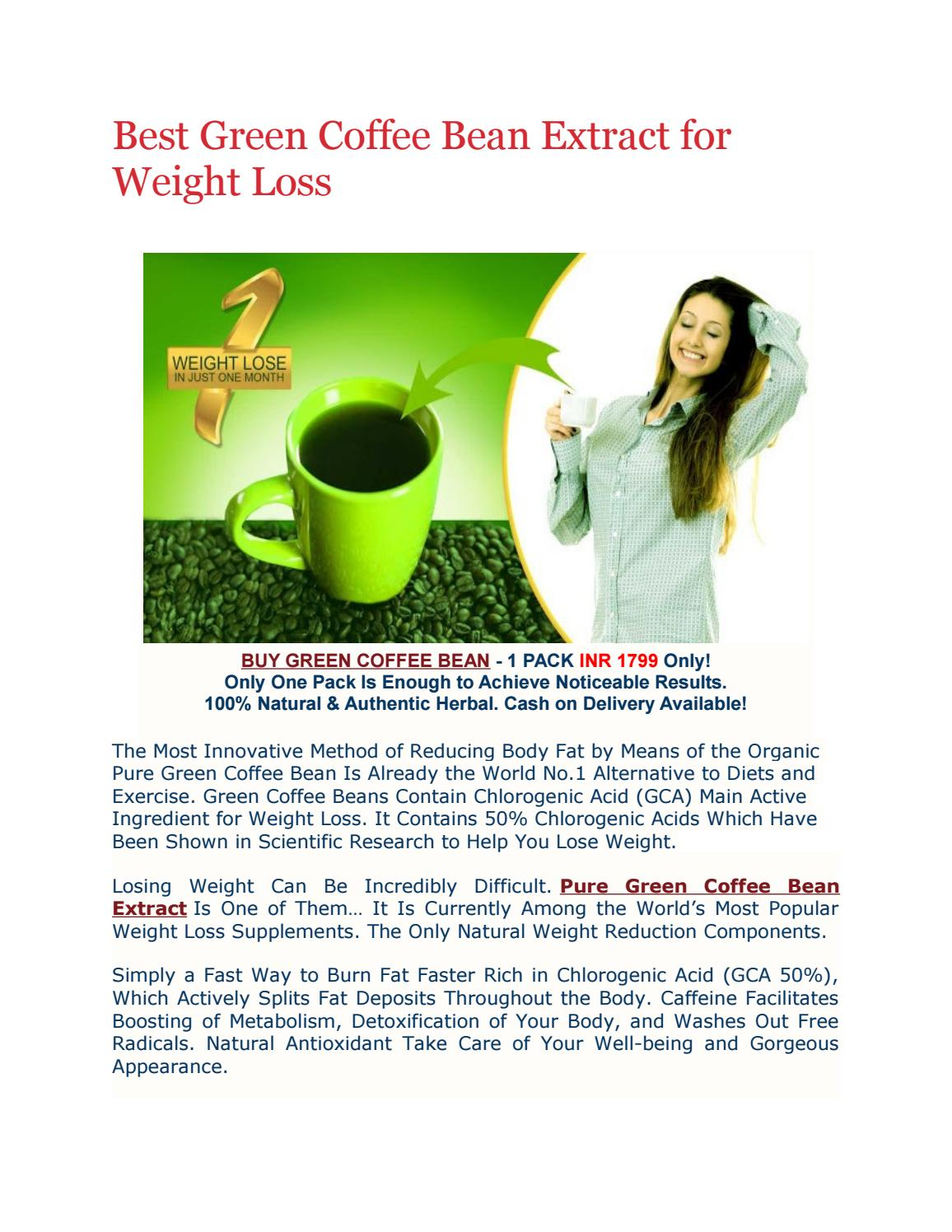Best Green Coffee Bean Extract For Weight Loss By Simply Herbal